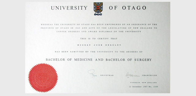 Bachelor of Medicine and Bachelor of Surgery Otago University