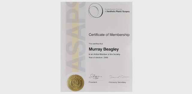 Member Australasian Society of Aesthetic Plastic Surgery
