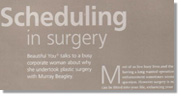 Scheduling in surgery